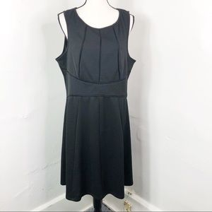 Love Squared Black Fit And Flare Sleeveless Dress